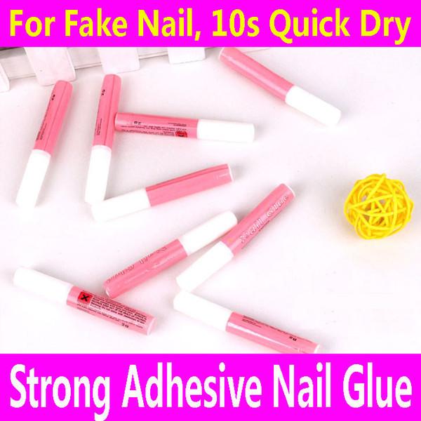 Wholesale-6pcs Nail Glue Fast Dry Strong Adhesive For False Fake Acrylic Nail Rhinestone Beauty Gems Makeup Gel Nail Art Tips Care Tools