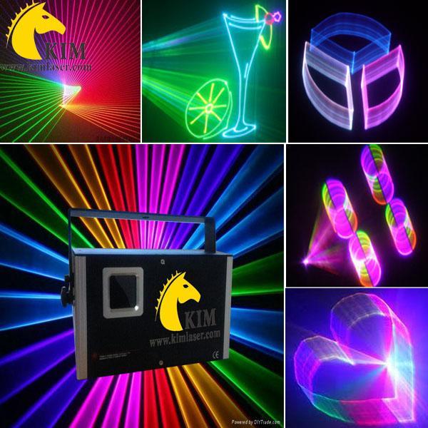 Multifunktionales 1,5 W RGB-Laserlicht mit 2D- / 3D- / SD-Karte / DJ-Licht / Club-Laserlicht / Bühnenlicht / Pub-Lasershow-System