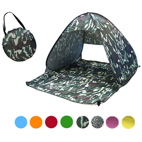 best selling 2-3 Persons Fishing Tent Outdoor Automatic Pop Up Instant Portable Cabana Beach Tent Anti UV Beach Tent Beach Shelter 23 Colors