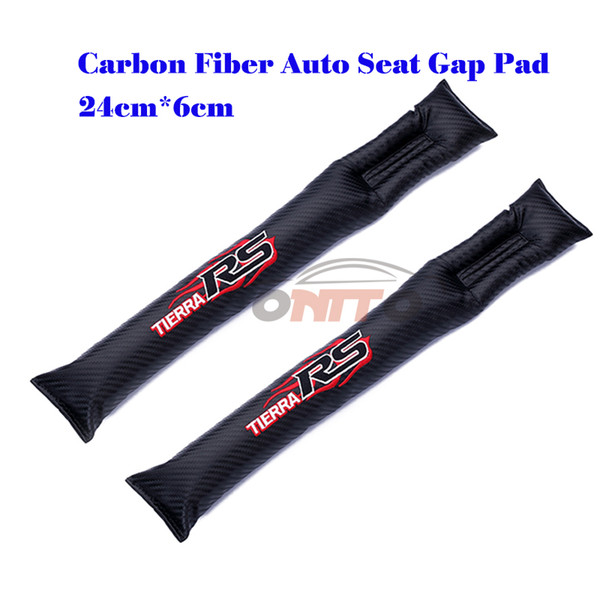 Auto Accessories 2Pcs Carbon Fiber Seat Gaps Plug For RS Logo Crevice Inserts Protective Padding All Series Car Emblem