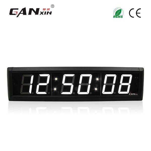 [Ganxin] 2.3 inç 6 Haneli LED Duvar Saati Beyaz Renk Uzaktan Kumanda ile LED Zamanlayıcı 7 segment Ekran Geri Sayım