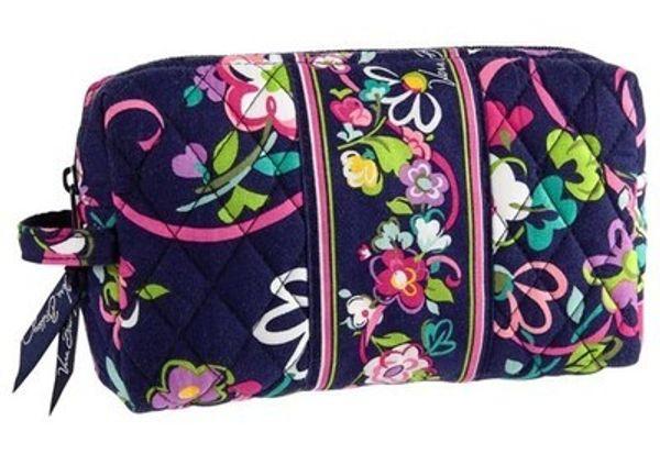 NWT Cotton Medium Cosmetic Bag Trousse de rangement Trousse de rangement