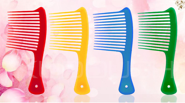Hot Sale Hair Styling Combs with Handle Anti Static Professional Salon Wide Tine Comb High Quality Free Shipping.