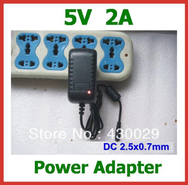 Wholesale- 10pcs Free Shipping 5V 2A 2.5mm Power Adapter Charger EU US for Tablet PC Pipo M5(3G) S1 S2 S3 U1 U1pro U2 U3 High Quality