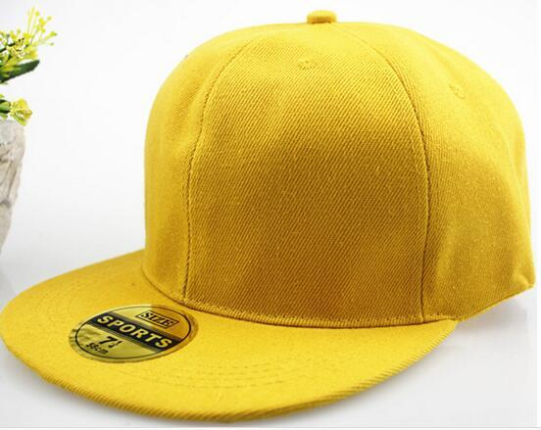 Cappellini da baseball per berretti da baseball hip-hop in bianco tinta unita Snapback