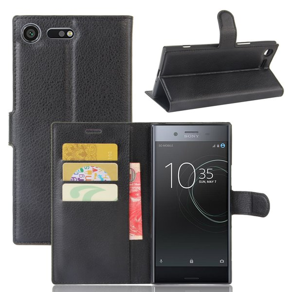 Diforate New Arrival Luxury Leather Wallet Phone Flip Cover Pouch Case For Sony Xperia XZ Premium