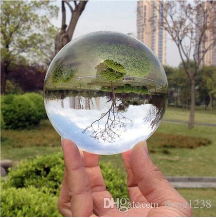 80mm Rare Effacer Asiatique Quartz feng shui balle Boule de Cristal Sphère De Mode Table Décor Bonne Chance Balle Livraison Gratuite