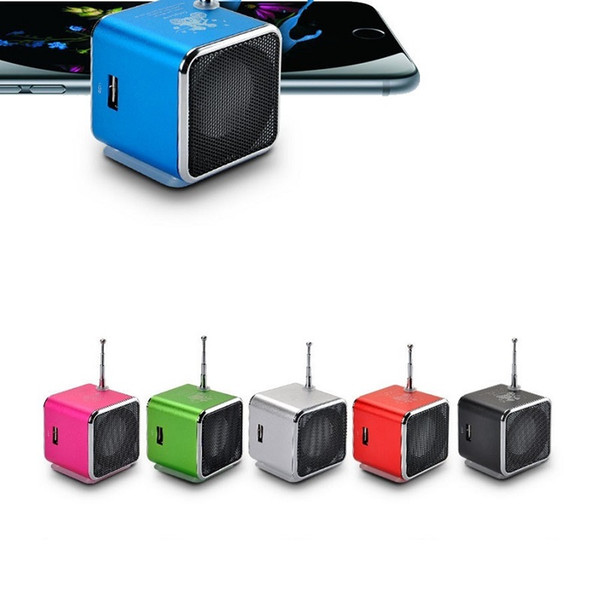 Colorful Portable Mini Speaker TD-V26 Micro SD /TF Card USB Disk MP3 Music Player Amplifier FM Radio digital speaker LCD display (DY)