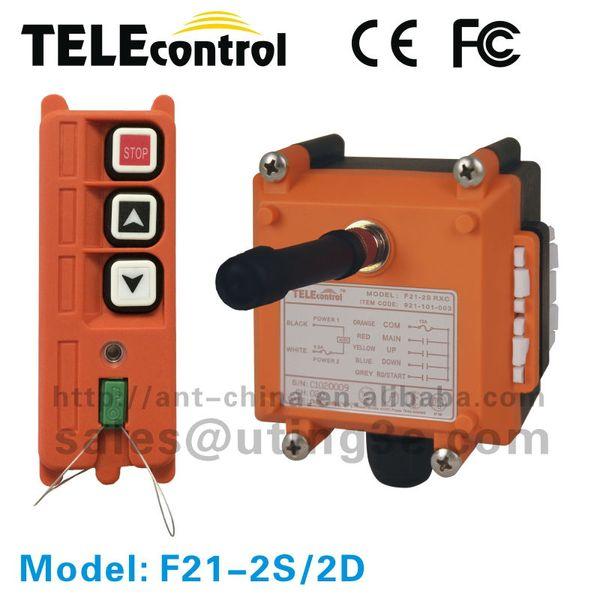 Vente en gros - F21-2S 12V 2 boutons à double vitesse (1 émetteur1 récepteur) Contrôle à distance industriel / contrôle de grue à distance / télécommande radio
