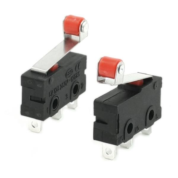 Toptan-GSFY-10 Adet Mini Mikro Sınır Anahtarı Rulo Kolu Kol SPDT Yapış Eylem LOT