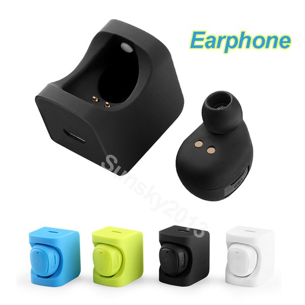 C1 Bluetooth Mini in-ear Earphone Wireless Stereo Headsets with Socket Earbuds Sports Music Player with Mic for iphone Samsung HUAWEI ZTE LG