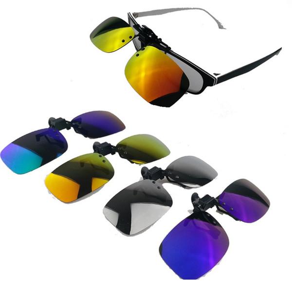 Commercio all'ingrosso - Multi colore occhiali da sole polarizzati clip nuovo stile Polarized Mirror Clips occhiali da sole Occhiali da sole Lens Clamp CA029