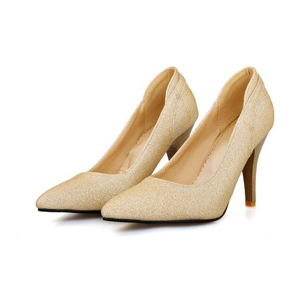 Summer and autumn and stiletto pointed muzzle foot shallow shiny elegant fashion wedding women shoe 299