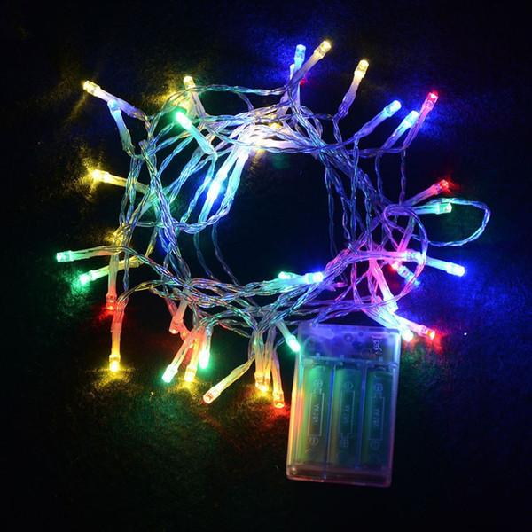 Luces de cadena de festival de interior al aire libre 2M 20 LED Luces de cadena de LED de colores Cadena de Navidad con pilas Decoraciones de boda de año nuevo