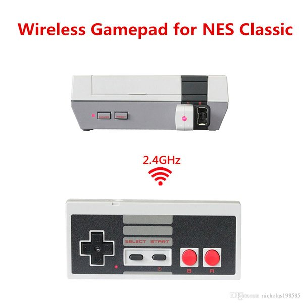 Wireless USB Plug And Play Controller Gamepad Joystick Mini NES Classic Edition Game Box With Wrireless Receiver Within Charging Battery