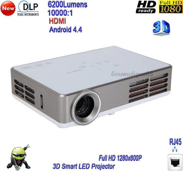 2018 New DLP 6200 Lumens HDMI VGA SD WiFi Home Theater Projector Full HD 1080P 3D Projector LED Projector HDMI 1G+16G