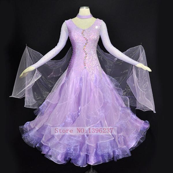 Robes de bal standard pour adultes Haute Qualité Valse Tango Danse Flamenco Porter Ladys Compétition Robe de Danse