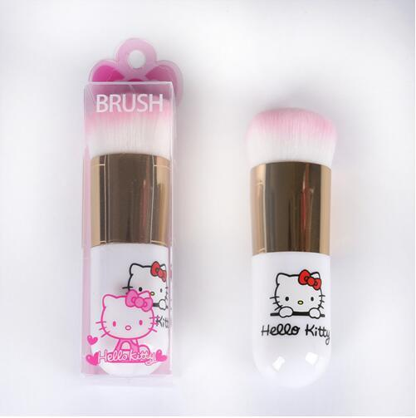 Mignon Hello Kitty Fondation Brosse Plat Maquillage Brosses Professionnel Cosmétique Maquillage Brosse Portable KT BB Plat Brosse CCA7820 100 pcs