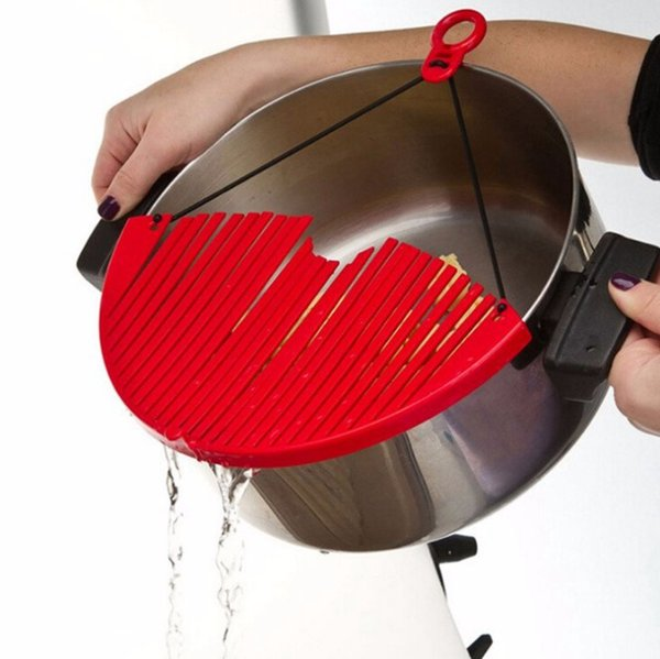 Better Strainer Large Colador expansible Lock en Tamiz Colander Filtro de agua Coland expansible Coland kitchen OOA1933