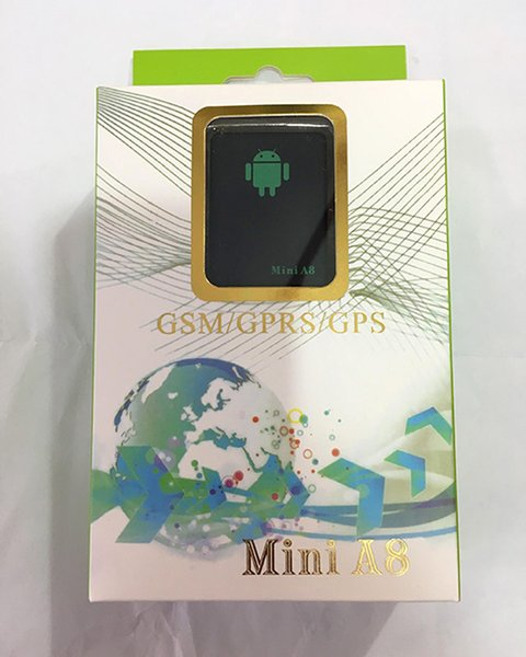 A8 Mini GSM / GPRS Tracker Global en tiempo real GSM GPRS GPS que rastrea el dispositivo con el botón SOS para los coches Niños Elder Pets