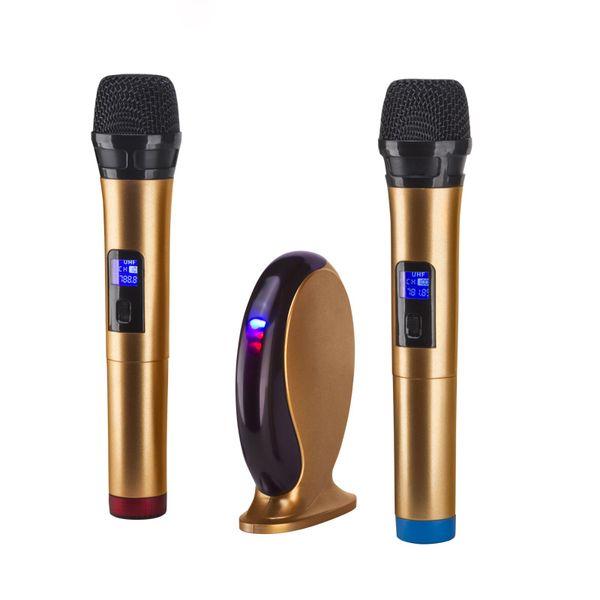 YVBOX Small New Professional Wireless Microphone System Karaoke Machine Set for Smart Phone/iPad/PC/TV