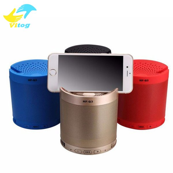 2016 New 6W Bluetooth speaker grill with phone dock 1200mah powerful speaker grill metal portable 3D stereo grill speaker HFQ3