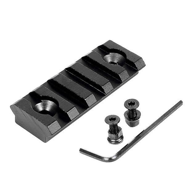 "Aluminum Alloy Tactical 5 Slot 2"" Keymod Rail Section Picatinny Rail for Key Mod Handguard Mount Rail System"