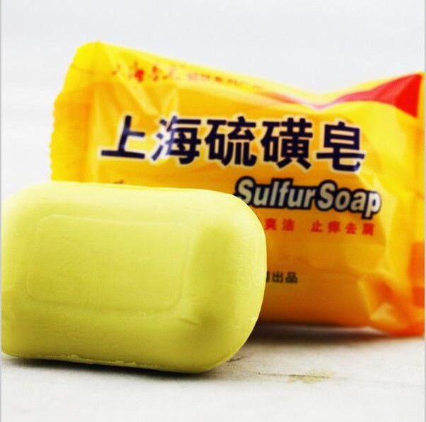 best selling LISITA 85g Shanghai Sulfur Soap 4 Skin Conditions Acne Psoriasis Seborrhea Eczema Anti Fungus Perfume Butter Bubble Bath Healthy Soaps