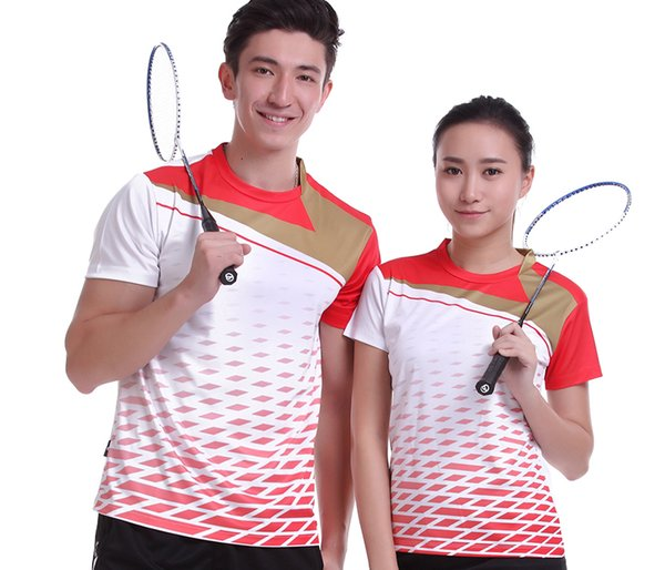 New Sportswear sweat Quick Dry breathable badminton t-shirt ,Women / Men table tennis clothes team game short sleeve T Shirts,tenis shirts