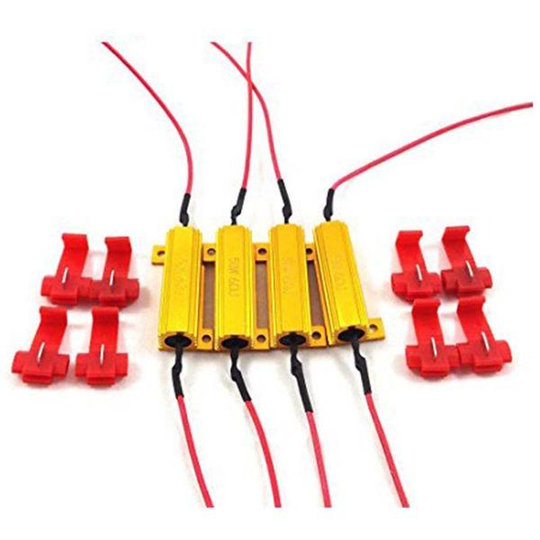 Resistenze di carico 4Pcs / 2pair 50W 6ohm - Fix LED Bulb Fast Hyper Flash Codice lampeggiante Codice errore lampeggiante