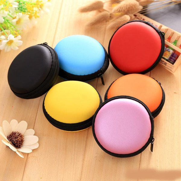 7 color ,Earphone line storage bag,Practical solid color round bag, Fidget Spinner pack,free shipping