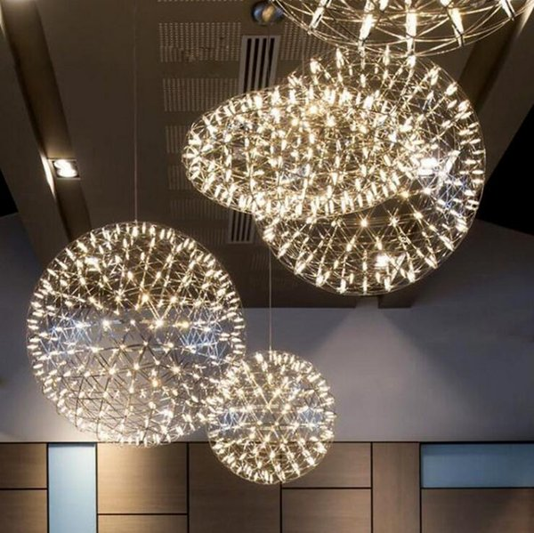 Lampadari A Palla Moderni.Acquista Scale Personalita Creativa Soggiorno Luci Dopo Il Moderno Led Lampadari Palla Palla Lampadario Hotel Negozio Di Abbigliamento Lampade