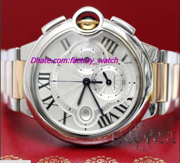Luxury New Arrivals BRAND NEW 44MM 2-Tone Pink Gold/Steel Chrono Watch W6920075 Watch With BOX Men's Watches