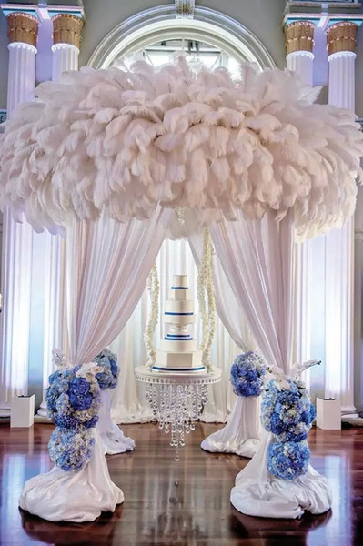 best selling 10-12inch(25-30cm) DIY Ostrich Feathers Plume Centerpiece for Wedding Party Table Decoration Wedding Decorations free shipping
