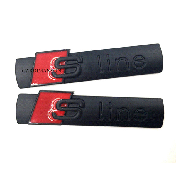 20 pcs/lot for Audi sline A1 A2 A3 A4 A5 A6 Q1 Q3 Q5 Q7 badge emblem metal car sticker accessories car styling