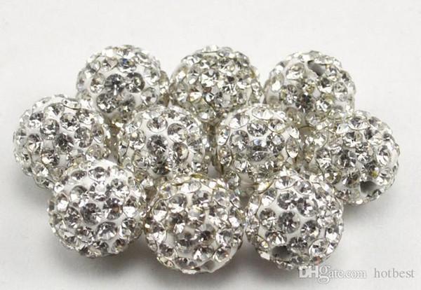 100 шт./лот m3532 лучший 10 мм смешанный многоцветный шар Кристалл Кристалл бисера браслет ожерелье бусины.Горячие новые бусины много!Горный хрусталь, DIY t5353