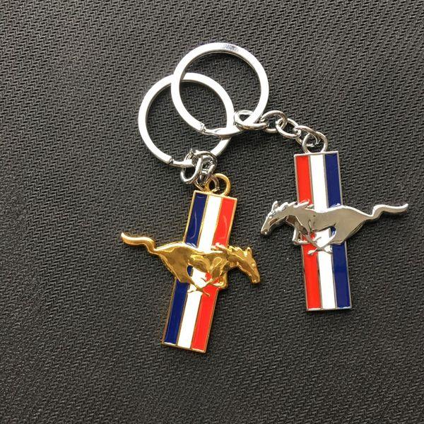 Fashion Metal Auto KeyRing Key Ring Key Chain KeyChain KeyHolder Fob For Ford Mustang
