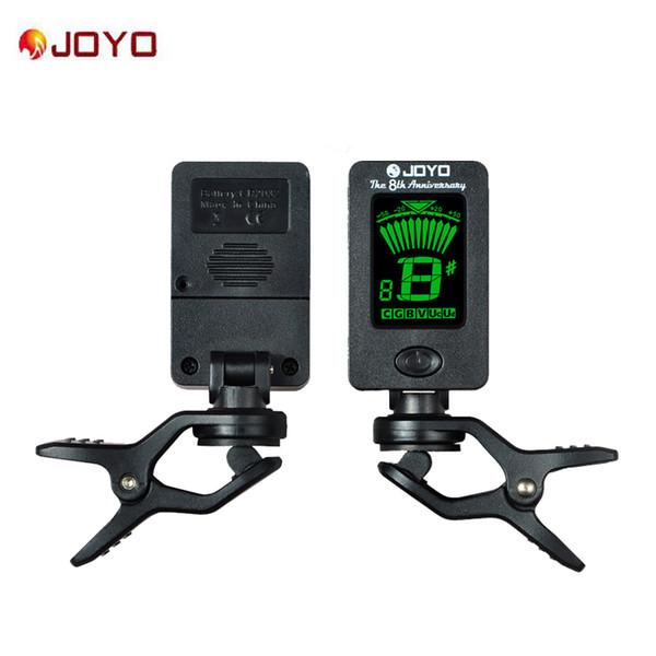 JOYO JT-01 Kromatik Klip-On Dijital Tuner 360 Derece Dönebilen gitar Tuner makineleri Gitar Bas Keman Ukulele için