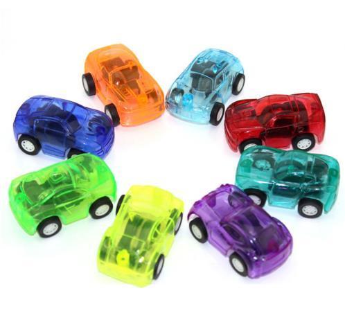 5 pezzi Giocattoli per bambini Carino Plastica Tirare indietro Automobili Macchinine per bambini Ruote Mini modello di auto Giocattoli divertenti per bambini per ragazzi Colore casuale