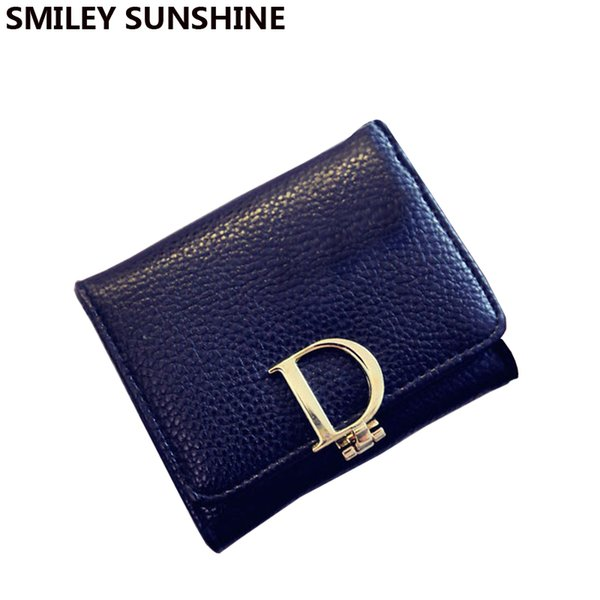 Wholesale- Famous Brand Coin Purse Luxury Women Coin Pouch Gold Wallets for Girl 2015 Designer Ladies Small Purses Fashion Money Bag