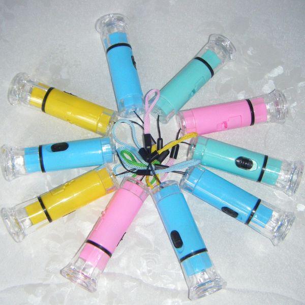 Factory direct crystal transparent small flashlight, color flashlight, light special batch of LED flashlight