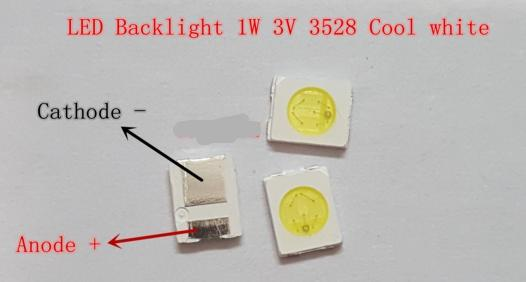 200pcs High Power 3528 SMD LEDs Diodes Television Super Bright DiodE SMD LED 1210 3528 1W 100LM Cool White TV Backlight