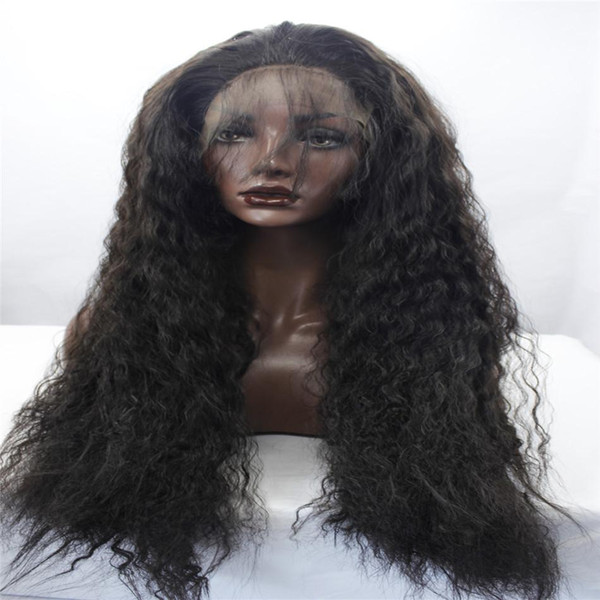Free shipping synthetic lace front wig heat resistant kinky havana curly african american woman twist 26 inch combs and straps lace front