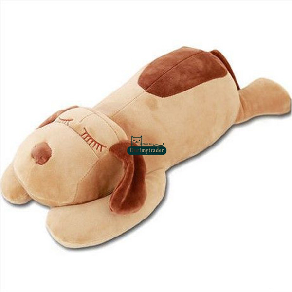 Dorimytrader 105cm Big Lovely New Soft Cartoon Lying Dog Plush Pillow Doll 41inches Stuffed Animal Sleeping Dogs Toy Baby Present DY61614