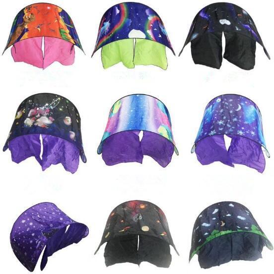 9 Arten 80 * 230 cm Kinder Traum Zelte Folding Typ Einhorn Mond Weiße Wolken Cosmic Space Baby Moskitonetz Ohne Nachtlicht CCA8208 50 stücke