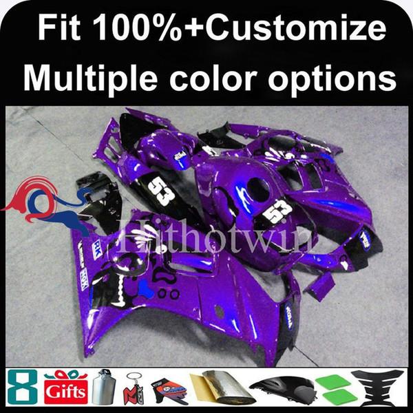 23colors+8Gifts Dark purple motorcycle cowl for HONDA CBR600F3 1995-1996 CBR600 1995 1996 ABS Plastic Fairing