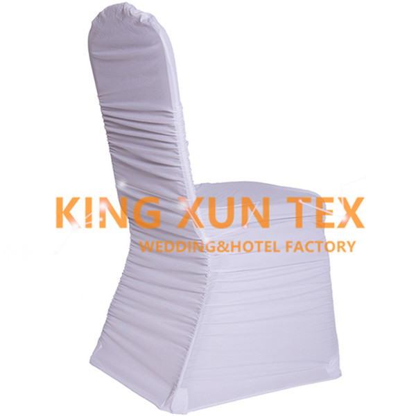 Nice Looking Ruffled Pleated Lycra Spandex Chair Cover Factory Wholesale Price For Wedding Decoration Free Shipping