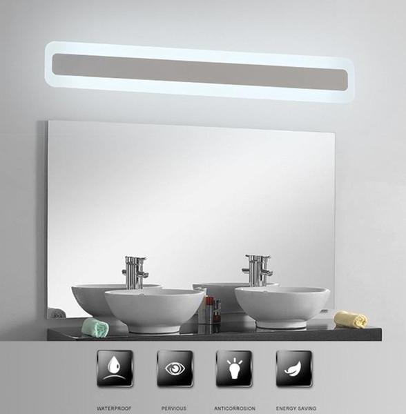Großhandel Moderne Acryl Badezimmer Licht Schminkspiegel Führen Licht  Badezimmer Wandleuchte Lampe Spiegel Front LED Beleuchtung Wasserdichte  Antifog ...