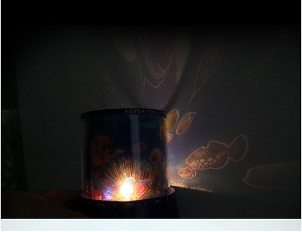 Creative Star romantic lamp luminous toy musical stars Sleep LED projector lamp lights gift