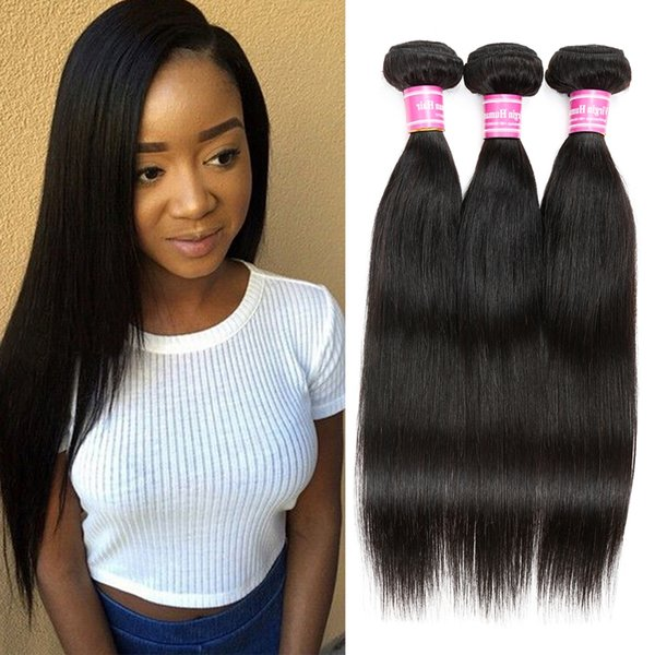 Best Selling unprocessed Indian Vrigin Human Hair 3Pcs/Lot Silky Straight Hair Weaves Dyeable Indian Virgin Remy Hair Extensions